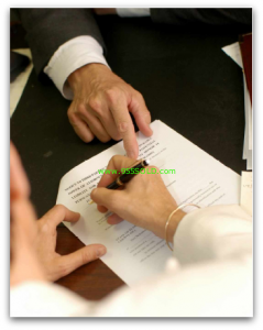 Sign Contract 239x300 Bank of America Short Sales and Electronic Signatures