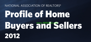 Profile home buyers sellers 2012 300x139 Profile of Home Buyers and Sellers