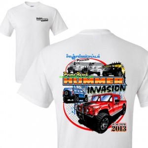 hummer invasion white tshirt large 300x300 Tshirts and Sweatshirts on Sale now!