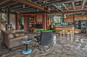 Shipping Container home Inside 300x199 Shipping Container Homes