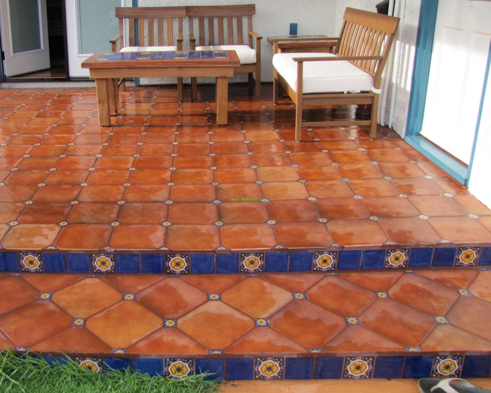 Saltillo tiles or pavers - Mexican style patio design ...